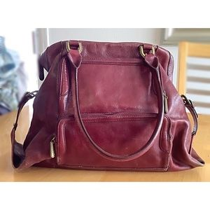 COLE HAAN Large Leather Satchel